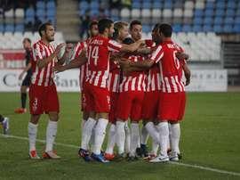El Almería se sitúa un punto por encima del descenso gracias a la victoria. UDAlmeríaSAD