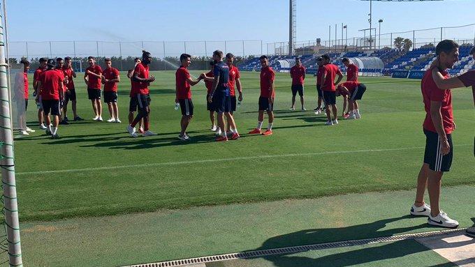 Turki Al Alshikh suspendió el amistoso del pasado domingo frente al Marbella. Twitter /U_D_Almeria