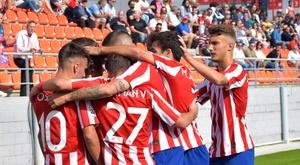 El Atlético B se entrenó en Alcalá de Henares. ClubAtléticodeMadrid
