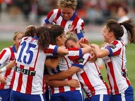 El Atleti Femenino queda como el único perseguidor del líder, el Barcelona. ClubAtleticoDeMadrid