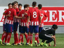 El Atlético endosó una 'manita' al Qarabag. Twitter/AtletiAcademia