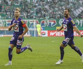 El partido lo decidió un gol de Alexander Grunwald. AustriaWien