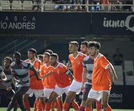 El Cartagena derrotó al Granada. Twitter/FCCartagena_efs