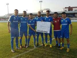 El Ceuta tiene en sus filas a nueve futbolistas que profesan la fe musulmana. Twitter/ADCeuta