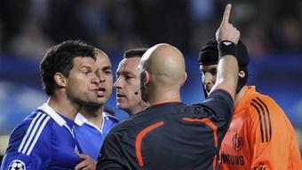 L'après-match de Chelsea-Barcelone en 2009: 'Des tables cassées, des bouteilles qui volent...'. AFP