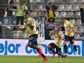 Jugadores del Club América, vigente campeón de la Liga de Campeones de la CONCACAF.