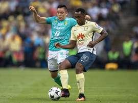 Pablo Aguilar y William anotaron los dos únicos tantos de América ante Pumas. ClubAmérica