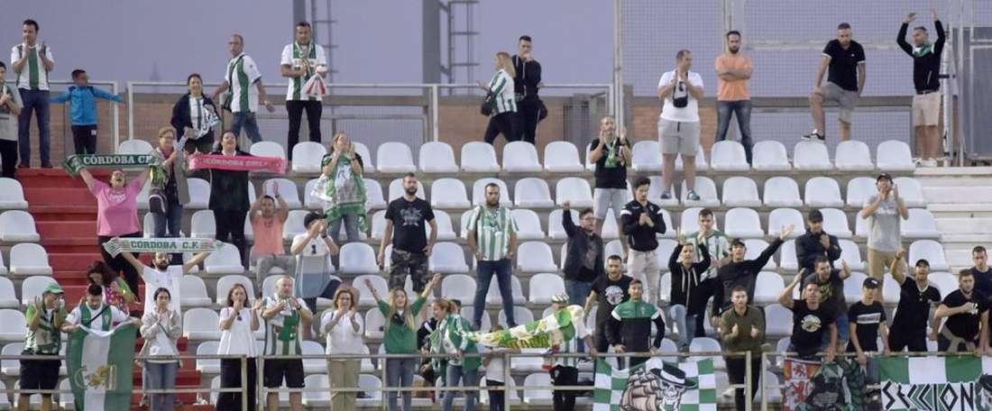 El Córdoba dejó pasar un buen tren en Algeciras. Twitter/Cordobacfsad