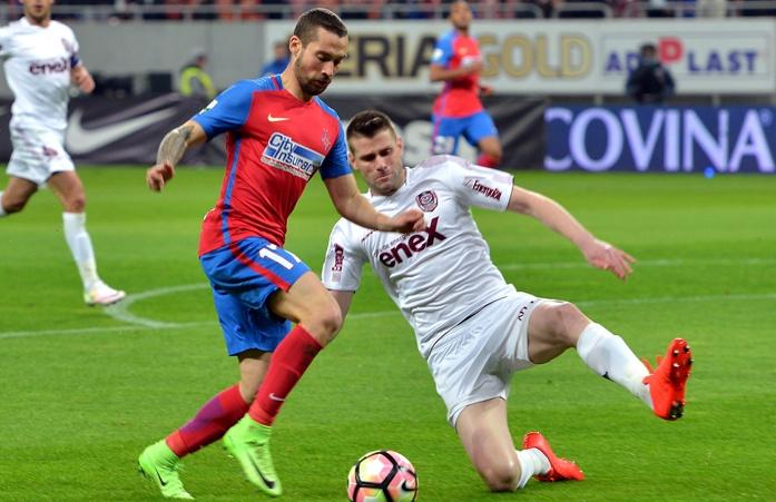 Máxima rivalidad en el 'derbi' entre Dinamo de Bucarest y Steaua. SteauaFC