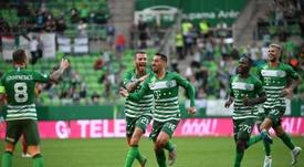 El Ferencvárosi TC se aleja del liderato. Twitter/Fradi_HU