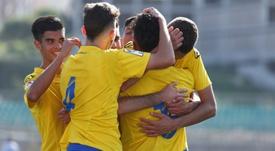 El filial de Las Palmas rescató un punto ante la adversidad. UDLasPalmas