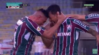 Fluminense venció a Bahia por 2-0. Captura/Yotutube/GloboEsporte