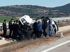El Fuensport ayudó en un accidente y perdieron su partido. Twitter
