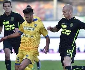 El Hellas Verona perdió ante un Frosinone que también lucha por la salvación.