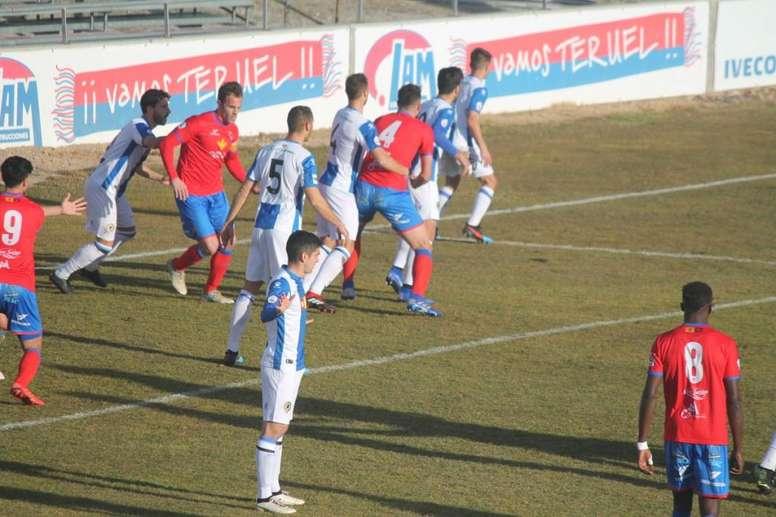 El Teruel rascó otro empate. Twitter/CFHercules