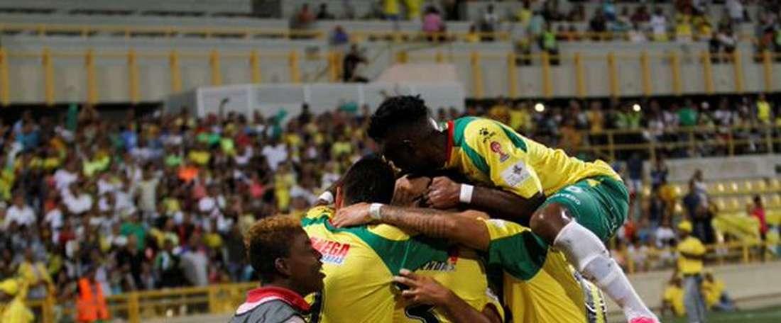 Real Cartagena sólo pudo empatar ante Fortaleza. Twitter