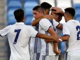 El equipo madridista consiguió darle la vuelta al partido ante el Socuéllamos. RealMadridCantera