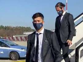 Real Madrid have arrived in Milan. Screenshot/RealMadrid
