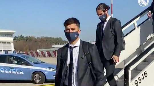 Real Madrid have arrived in Milan. Screenshot/RealMadrid