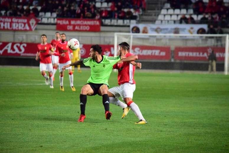El Murcia ha vencido al Atlético Sanluqueño. RealMurcia/Archivo