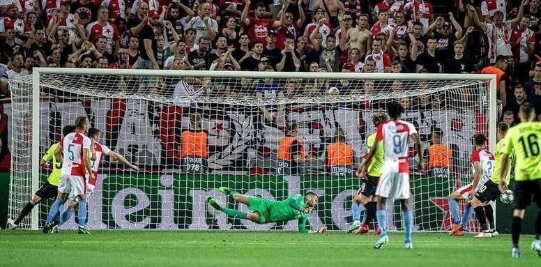 El Slavia de Praga estará en la Champions League. SlaviaPraha
