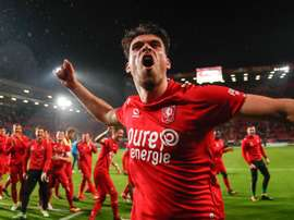 The Twente squad have little to celebrate now. FCTwente