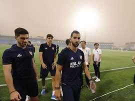 El partido no pudo disputarse de manera normal a causa de la tormenta de arena. ValenciaCF