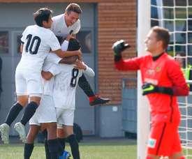 El Valencia aún no consiguió ganar en UEFA Youth League. ValenciaCF