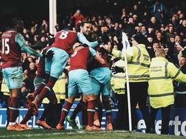 El West Ham empaté en sólo dos minutos y culminó la remontada en el 91'. Twitter