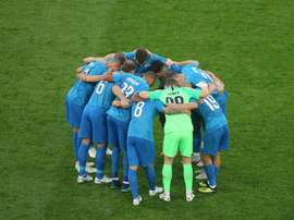 El Zenit hizo piña tras el descanso para darle la vuelta al marcador. ZenitSanPetersburgo