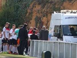 Un entrenador le salvó la vida a un jugador de La Cañada. AtléticoMonachil