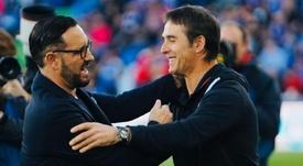Lopetegui, orgulloso del rendimiento de los suyos. Twitter/SevillaFC