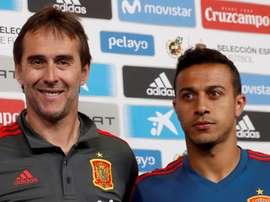 Teria sido mais normal chegar à final da Copa do Mundo com o Lopetegui, disse Thiago. EFE