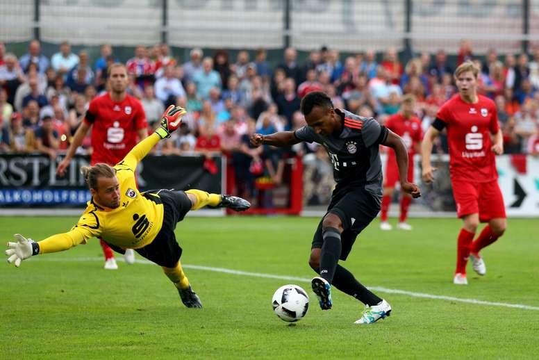 Julian Green marcó el primer gol del Bayern de Múnich ante el Lippstadt. FCBayern