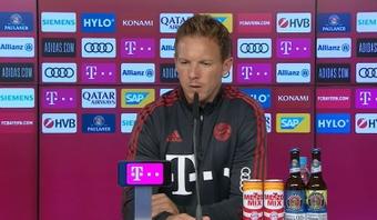 Nagelsmann pidió incorporar más elementos tecnológicos en el fútbol. Captura/FCBayern