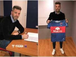 Chiarini ya forma parte de la plantilla de Tigre para la próxima temporada. ClubAtléticoTigre