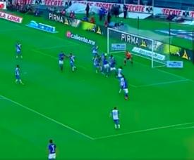 El 'Cata' Domínguez marcó el primer gol del choque. Captura/LigaBancomerMX
