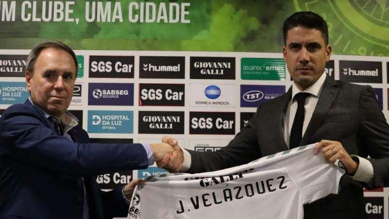 Julio Velázquez, nuevo entrenador del Vitória de Setúbal. Twitter/oficialvfc