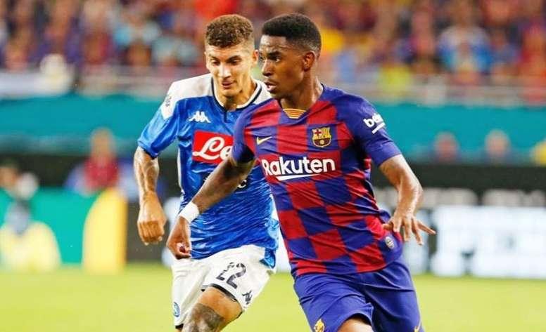 Junior Firpo debutó con su nuevo equipo. FCBarcelona