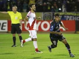 Sornoza, durante su etapa en Independiente del Valle. EFE