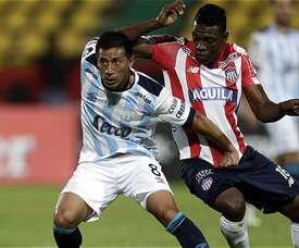 Los colombianos se impusieron por la mínima a Junior. EFE