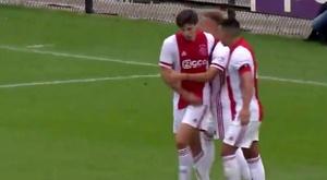 El Ajax tumbó al Holstein Kiel. Captura/AFCAjax