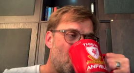 Klopp was interviewed by Liverpool from his home. LiverpoolFC