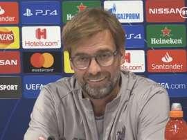Jürgen Klopp echó balones fuera sobre el favoritismo del Liverpool. Captura/BTSport