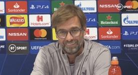 Jurgen Klopp spoke about Liverpool's favouritism. Captura/BTSport