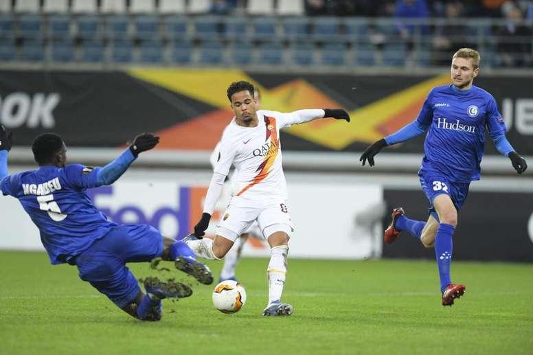 Kluivert porta la squadra agli ottavi. Tweet/ AS Roma