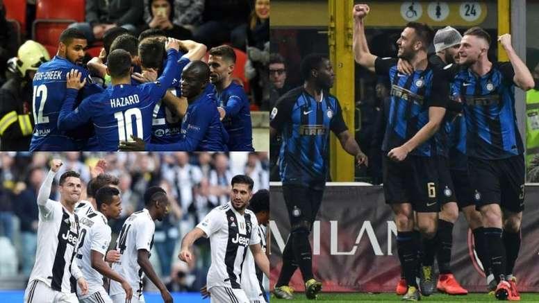Juve, Inter y Chelsea, entre los equipos con más jugadores cedidos en otros equipos. BeSoccer/EFE