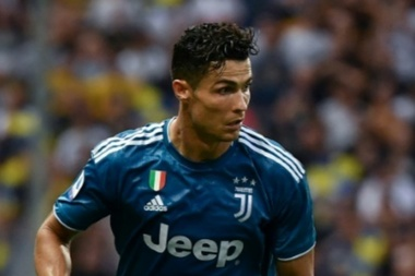 Ronaldo in action for Juve. AFP