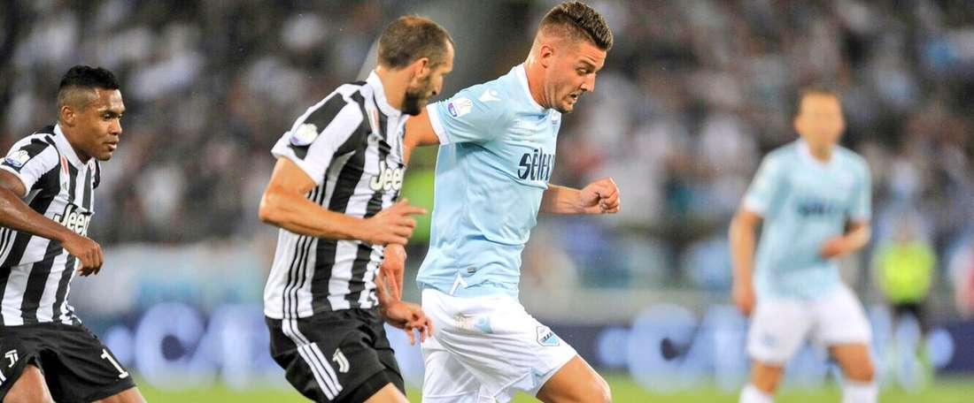Final de jogo louco deu o triunfo aos romanos. Twitter/Lazio