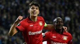 Chelsea have yet to make an official bid for Kai Havertz. AFP